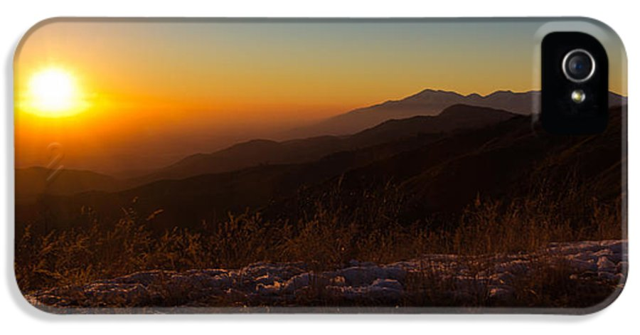 Background IPhone 5 / 5s Case featuring the photograph Winter Sunset by Heidi Smith