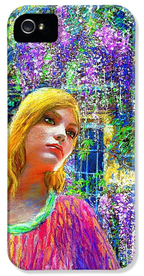 Wisteria IPhone 5 / 5s Case featuring the painting Wisteria by Jane Small