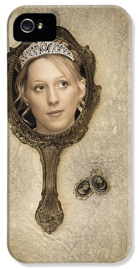 Woman IPhone 5 / 5s Case featuring the photograph Woman In Mirror by Amanda Elwell