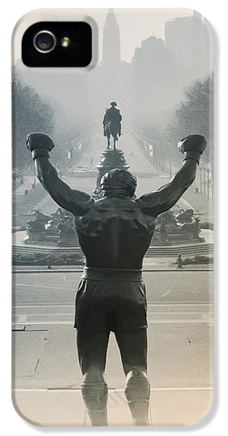 Rocky IPhone 5 / 5s Case featuring the photograph Yo Adrian by Bill Cannon