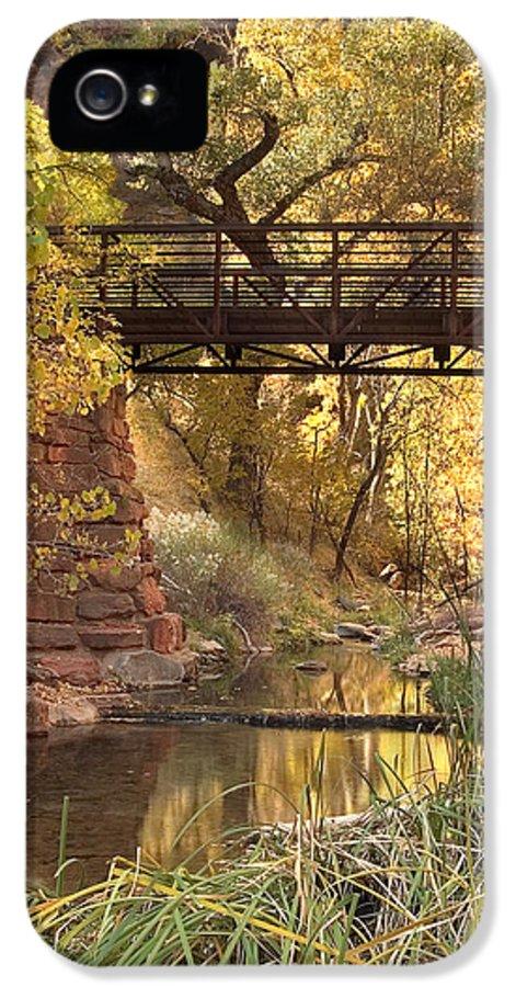 3scape Photos IPhone 5 / 5s Case featuring the photograph Zion Bridge by Adam Romanowicz