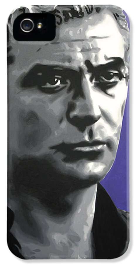 Ludzska IPhone 5 / 5s Case featuring the painting - Michael Caine - by Luis Ludzska