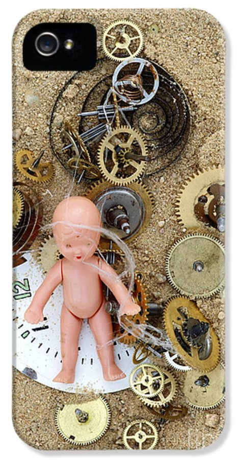 Abstract IPhone 5 / 5s Case featuring the photograph Child In Time by Michal Boubin