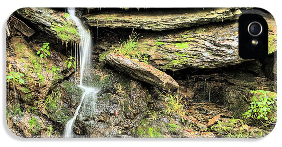 Waterfall Mountain Mountains Creek Stream Spring Fed Natural Nature Harpers Ferry West Virginia Wv Va Md Maryland Potomac Shenandoah River Rivers Basin Watershed Falling Waters IPhone 5 / 5s Case featuring the photograph Falling Waters by JC Findley
