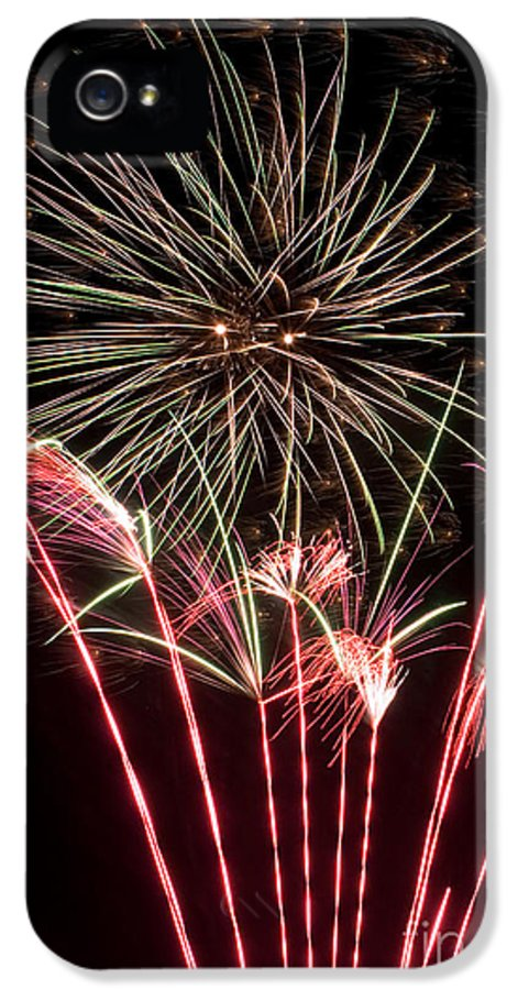 Fireworks IPhone 5 / 5s Case featuring the photograph Fireworks by Cindy Singleton