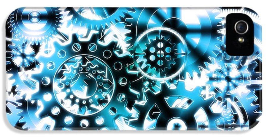 Art IPhone 5 / 5s Case featuring the photograph Gears Wheels Design by Setsiri Silapasuwanchai