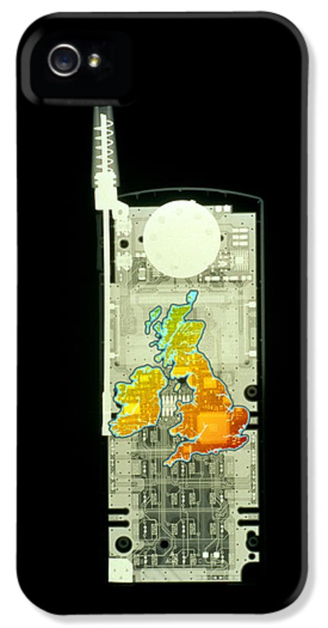 Mobile Phone IPhone 5 / 5s Case featuring the photograph Mobile Phone X-ray by D. Roberts