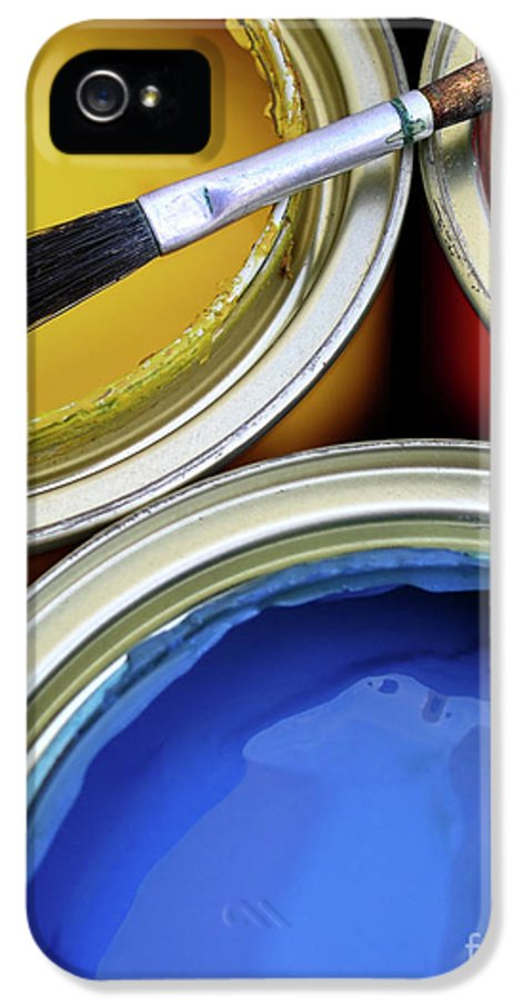 Art IPhone 5 / 5s Case featuring the photograph Paint Cans by Carlos Caetano