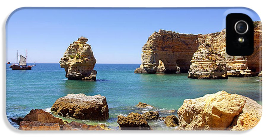 Algarve IPhone 5 / 5s Case featuring the photograph Rocky Coast by Carlos Caetano