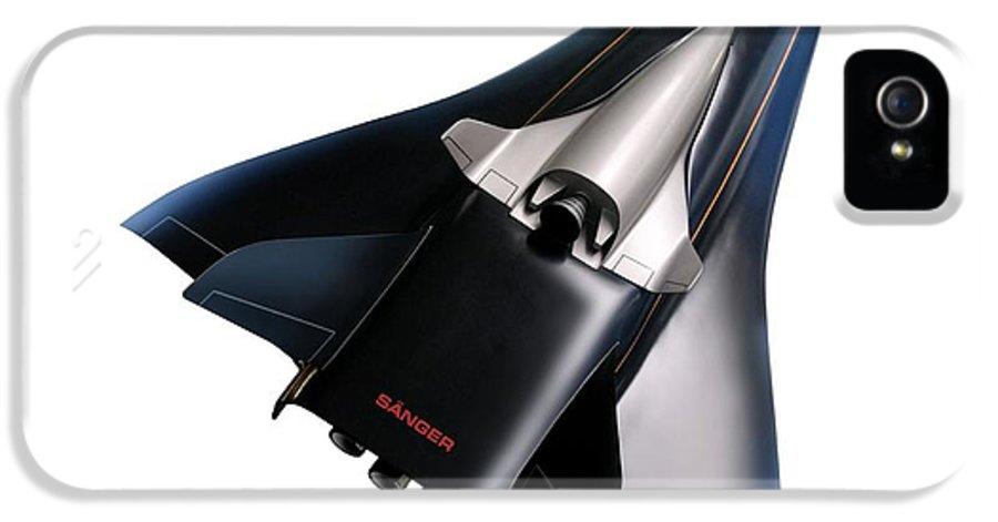 Aerodynamics IPhone 5 / 5s Case featuring the photograph Saenger Horus Spaceplane, Artwork by Detlev Van Ravenswaay