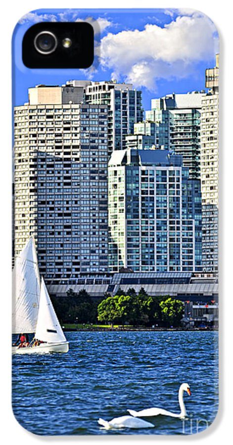 Toronto IPhone 5 / 5s Case featuring the photograph Sailing In Toronto Harbor by Elena Elisseeva