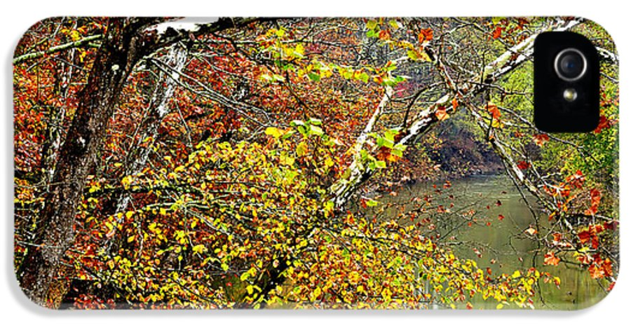 West Virginia IPhone 5 / 5s Case featuring the photograph Fall Along West Fork River by Thomas R Fletcher