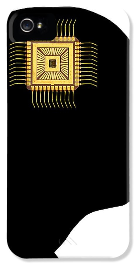 Human IPhone 5 / 5s Case featuring the photograph Artificial Intelligence And Cybernetics by Victor De Schwanberg