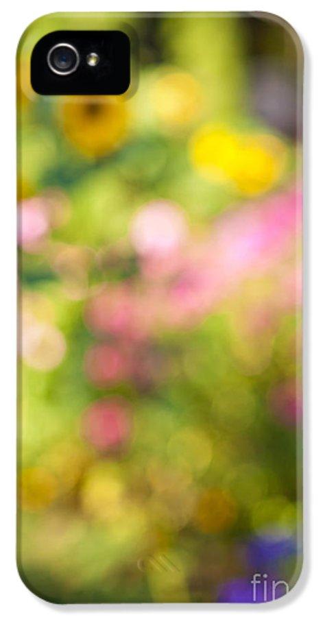 Flower IPhone 5 / 5s Case featuring the photograph Flower Garden In Sunshine by Elena Elisseeva