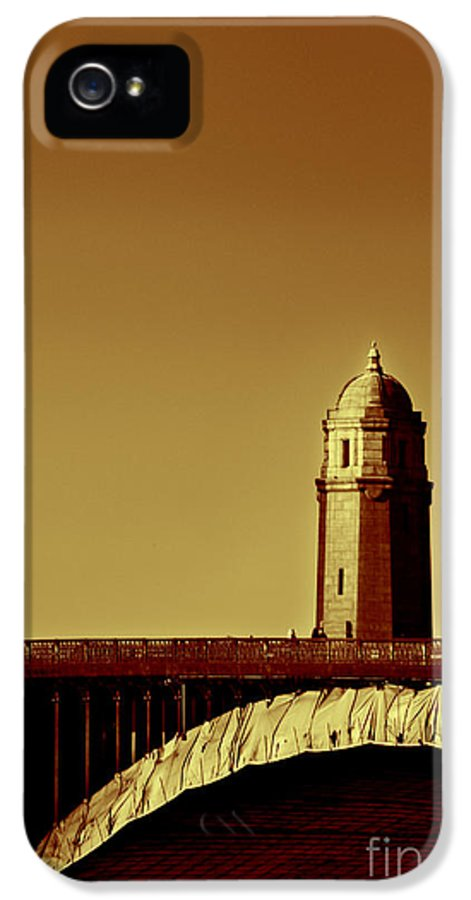 Boston IPhone 5 / 5s Case featuring the photograph A Bridge Of Two Cities by Dana DiPasquale