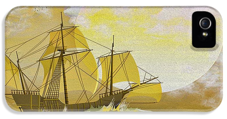 Sailboats IPhone 5 / 5s Case featuring the photograph A Day At Sea by Cheryl Young