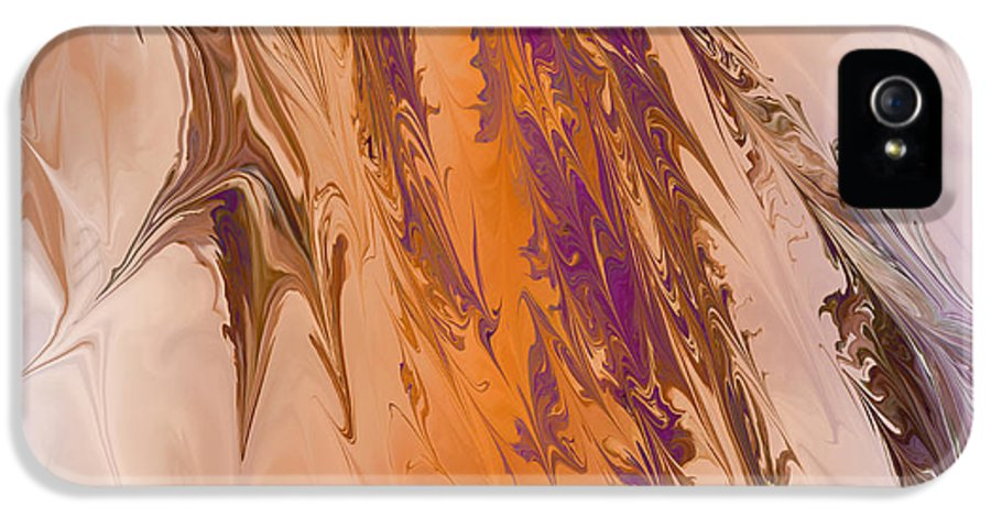 Abstract IPhone 5 / 5s Case featuring the digital art Abstract In July by Deborah Benoit