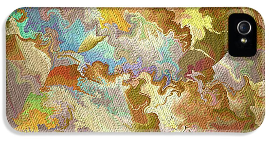 Abstract IPhone 5 / 5s Case featuring the photograph Abstract Puzzle by Deborah Benoit