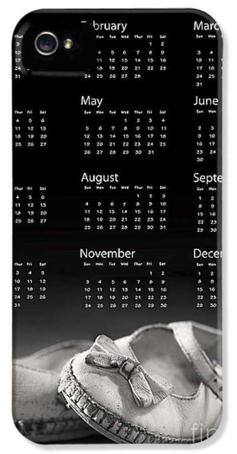 2013 IPhone 5 / 5s Case featuring the photograph Baby Shoes Calendar 2013 by Jane Rix