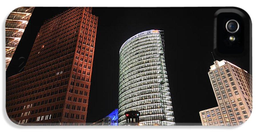 Berlin IPhone 5 / 5s Case featuring the photograph Berlin Potsdamer Platz Potsdam Square Germany by Matthias Hauser