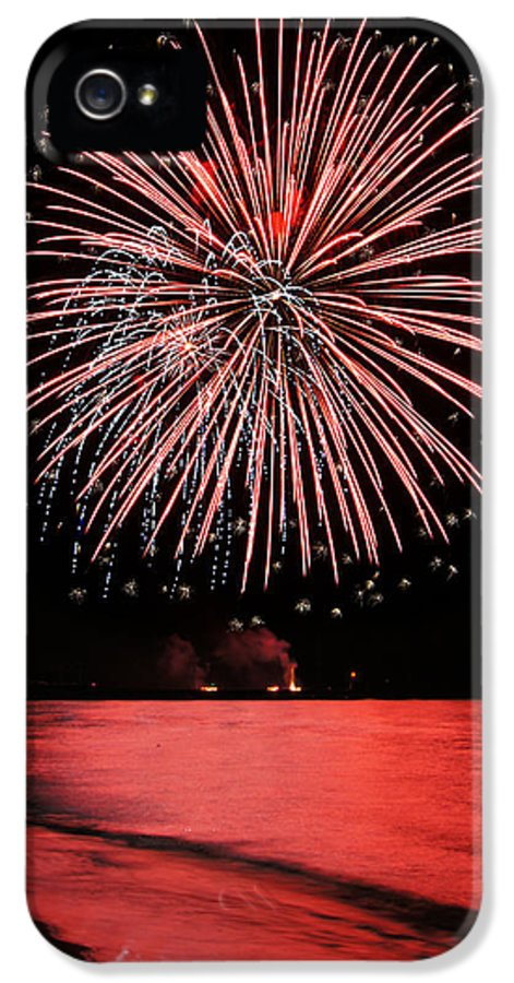 Fireworks IPhone 5 / 5s Case featuring the photograph Big Red by Bill Pevlor