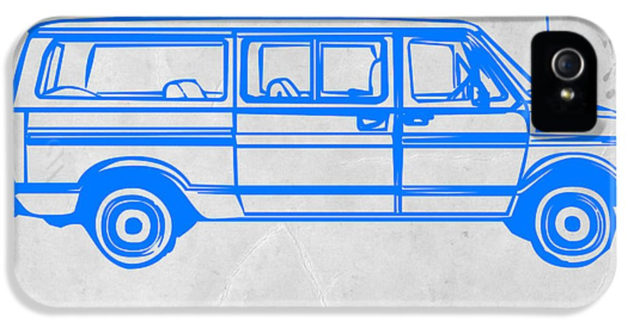 IPhone 5 / 5s Case featuring the drawing Big Van by Naxart Studio