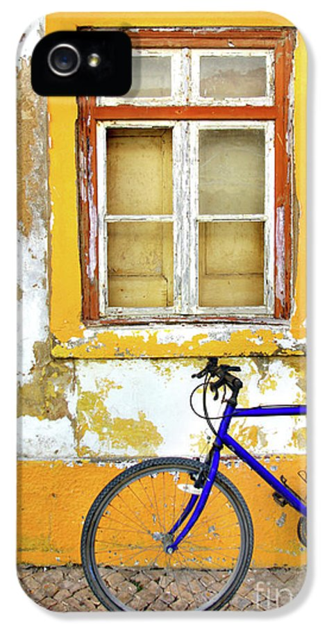 Aged IPhone 5 / 5s Case featuring the photograph Bike Window by Carlos Caetano