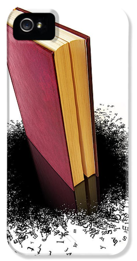 Abstract IPhone 5 / 5s Case featuring the photograph Bleading Book by Carlos Caetano