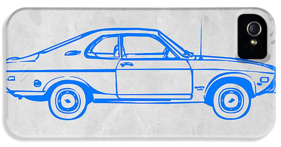 Auto IPhone 5 / 5s Case featuring the photograph Blue Car by Naxart Studio