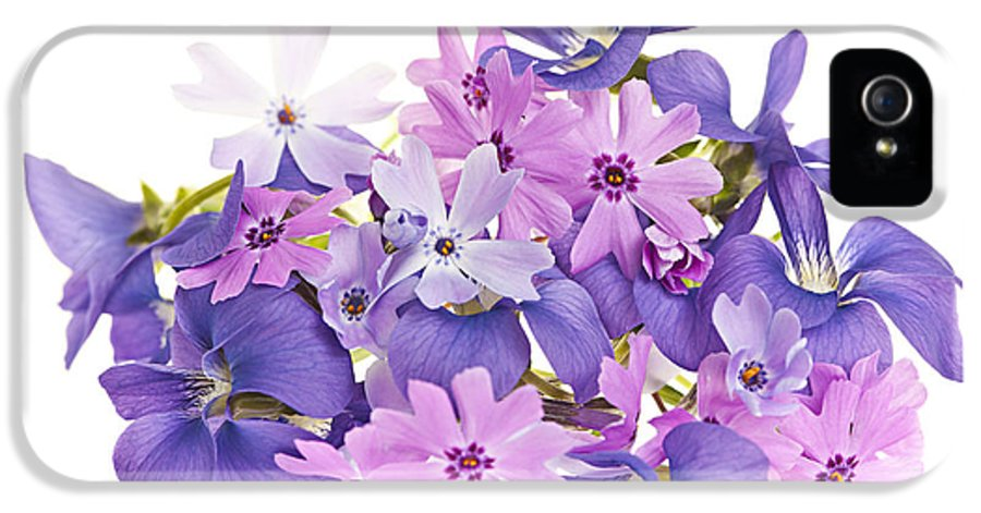 Violets IPhone 5 / 5s Case featuring the photograph Bouquet Of Spring Flowers by Elena Elisseeva