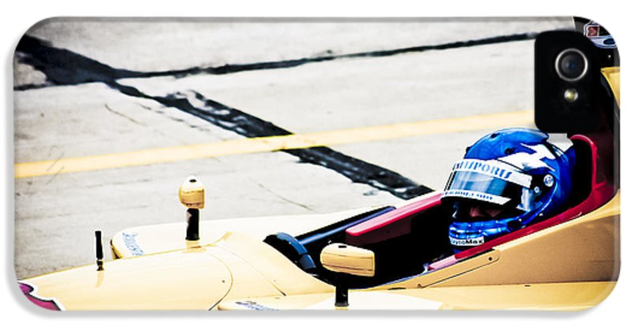 People IPhone 5 / 5s Case featuring the photograph Champ Car Driver by Darcy Michaelchuk