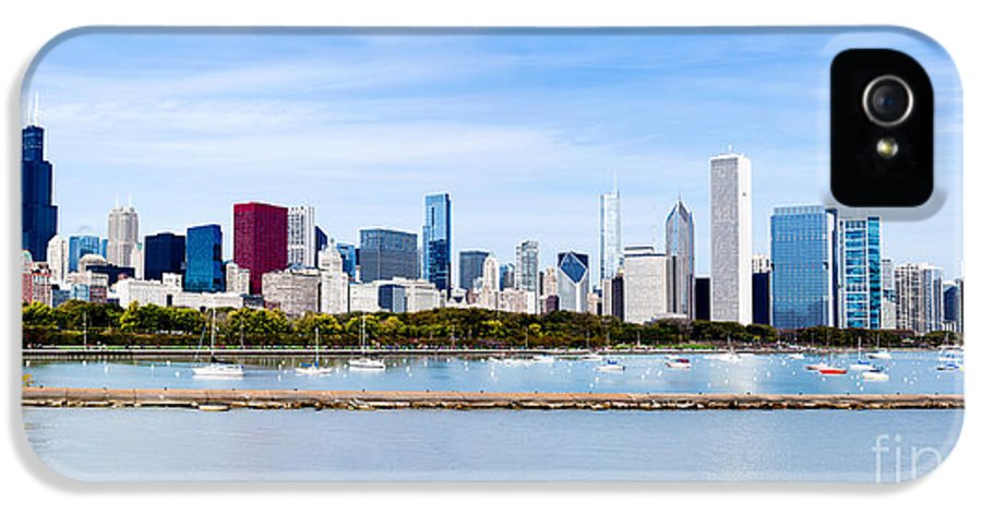America IPhone 5 / 5s Case featuring the photograph Chicago Panarama Skyline by Paul Velgos