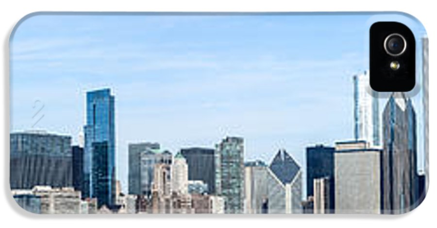 America IPhone 5 / 5s Case featuring the photograph Chicago Panoramic Skyline High Resolution Picture by Paul Velgos