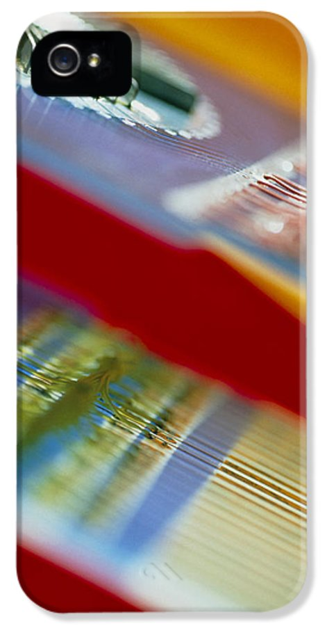 Circuit IPhone 5 / 5s Case featuring the photograph Circuits Used In Testing Microchip Functions by Chris Knapton