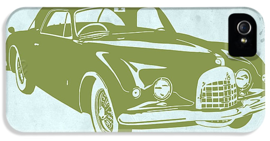 IPhone 5 / 5s Case featuring the drawing Classic Car by Naxart Studio