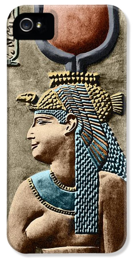 Cartouche IPhone 5 / 5s Case featuring the photograph Cleopatra Vii by Sheila Terry