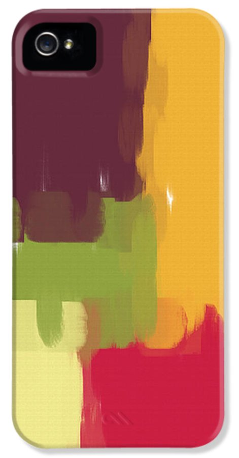 Abstract IPhone 5 / 5s Case featuring the painting Colorblock Winter by Heidi Smith