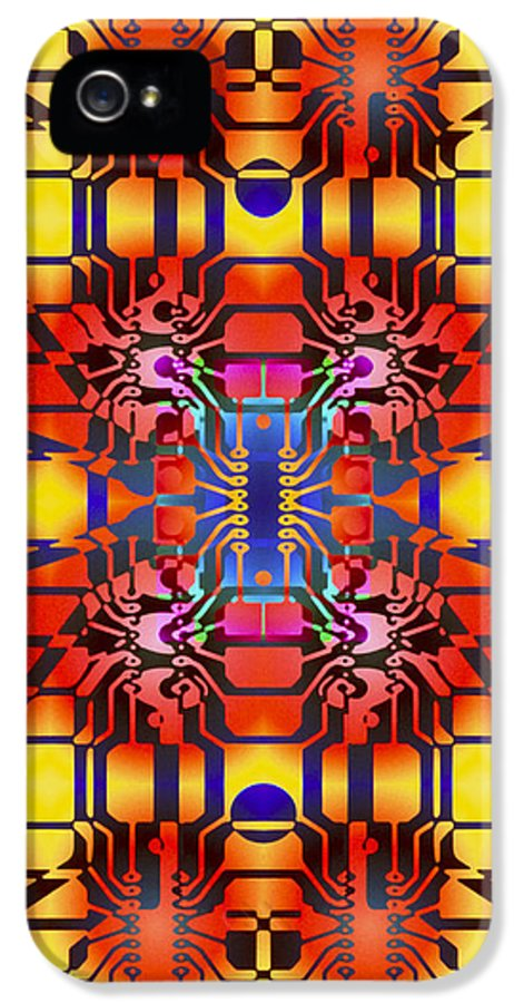 Circuit Board IPhone 5 / 5s Case featuring the photograph Computer Artwork Representing A Circuit Board by Mehau Kulyk