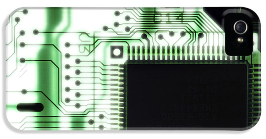 Component IPhone 5 / 5s Case featuring the photograph Computer Circuit Board by Tim Vernonlth Nhs Trust