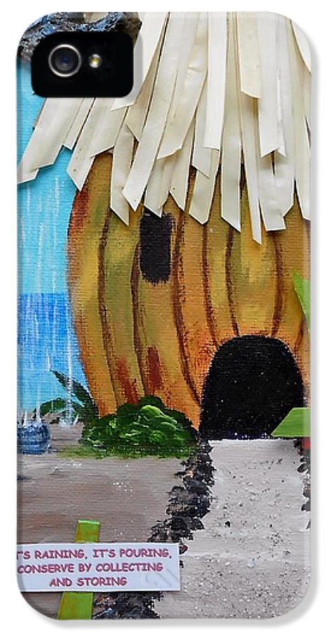 Beach Hut IPhone 5 / 5s Case featuring the painting Conserve by Jamie Frier