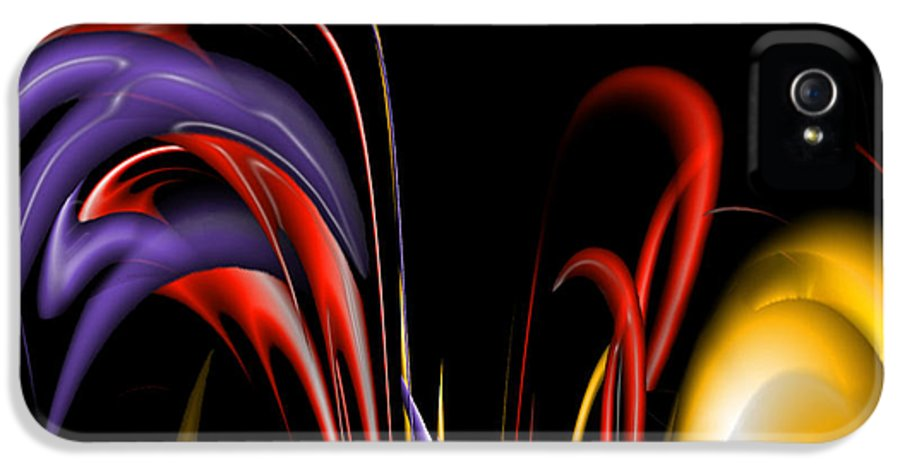 Abstract IPhone 5 / 5s Case featuring the digital art Digital Joy by Anthony Caruso