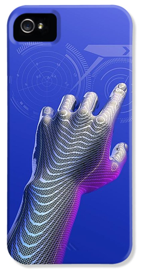 Hand IPhone 5 / 5s Case featuring the photograph Digital Touchscreen, Artwork by Victor Habbick Visions