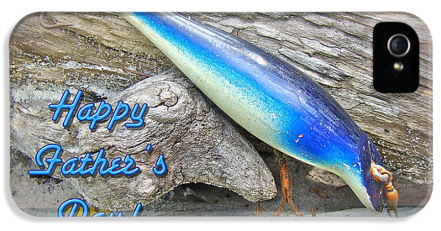 Fathers Day IPhone 5 / 5s Case featuring the photograph Fathers Day Greeting Card - Vintage Floyd Roman Nike Fishing Lure by Mother Nature