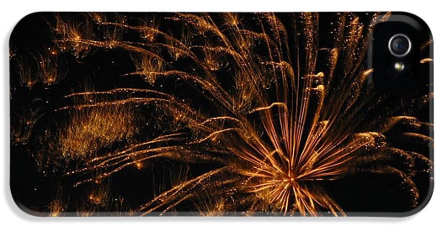 Fireworks IPhone 5 / 5s Case featuring the photograph Fiery by Rhonda Barrett