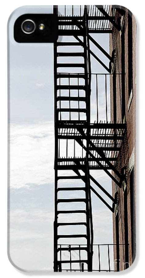 House IPhone 5 / 5s Case featuring the photograph Fire Escape In Boston by Elena Elisseeva