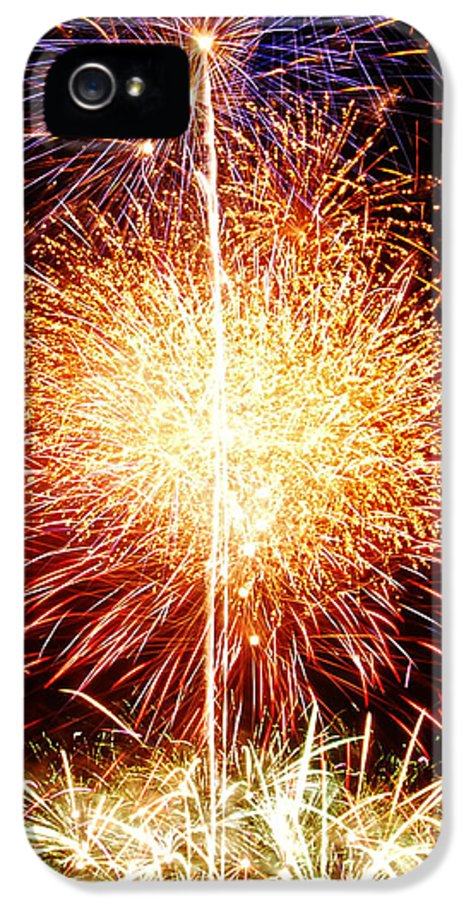 Fireworks IPhone 5 / 5s Case featuring the photograph Fireworks_1591 by Michael Peychich