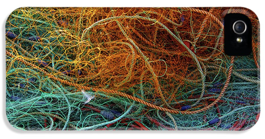 Background IPhone 5 / 5s Case featuring the photograph Fishing Nets by Carlos Caetano