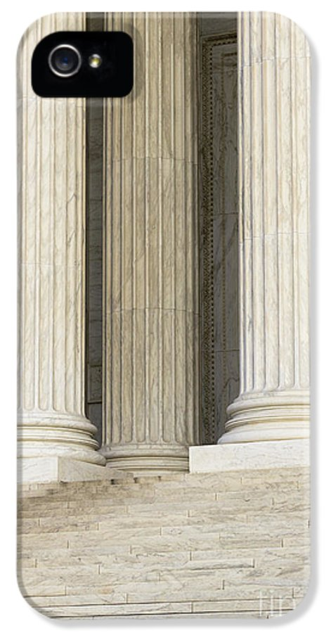 American History IPhone 5 / 5s Case featuring the photograph Front Steps And Columns Of The Supreme Court by Roberto Westbrook