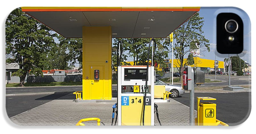 Business IPhone 5 / 5s Case featuring the photograph Fuel Pump At A Gas Station by Jaak Nilson