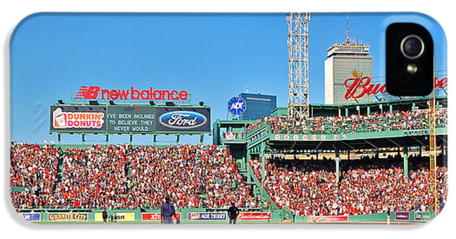 Fenway Park IPhone 5 / 5s Case featuring the photograph Game Day by Joann Vitali